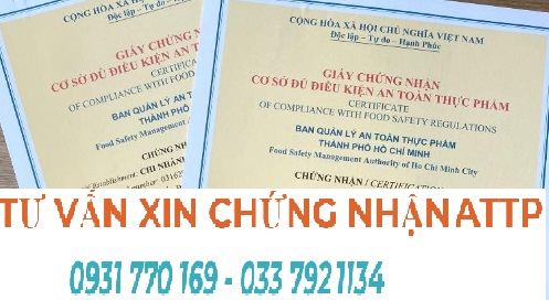 Dịch vụ làm giấy an toàn thực phẩm tại Gò Vấp