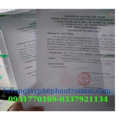 Xin giấy chứng nhận lưu hành tư do (CFS) tại Long An nhanh nhất