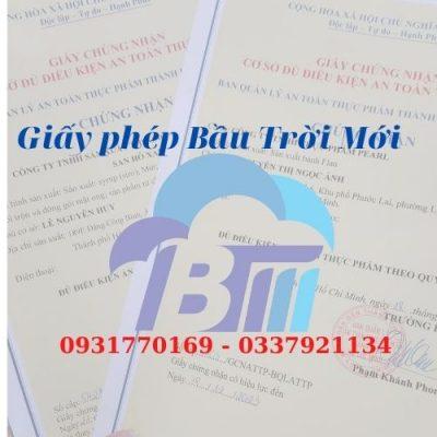 Dịch vụ làm giấy ATTP sang chiết đóng gói phụ gia thực phẩm