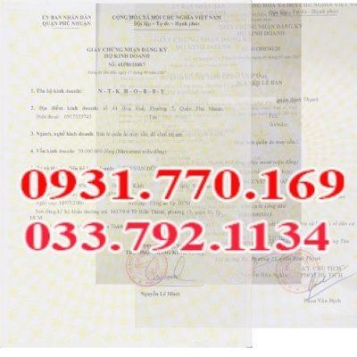# 1 Dịch vụ đăng ký giấy phép kinh doanh giá rẻ