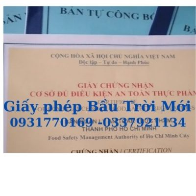Giấy phép an toàn thực phẩm sơ chế đóng gói rau củ quả tại Bình Tân