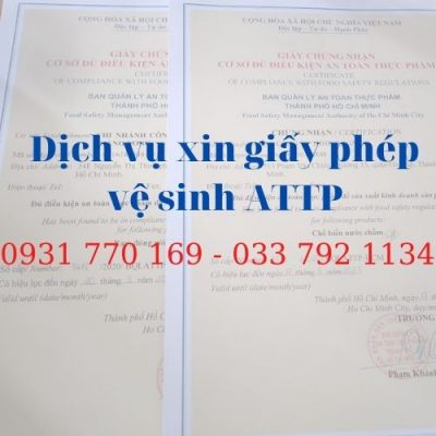 Xin giấy phép an toàn thực phẩm sản xuất khô gà/khô bò