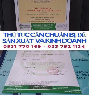 Quy trình xin giấy phép attp cho cơ sở sản xuất bột nêm gia vị
