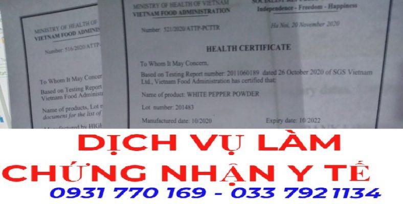 Dịch vụ làm giấy Health Certificate xuất khẩu bánh tráng giá rẻ